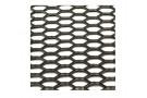 """Сетка пластиковая, сильно """"растянутые"""" ячейки с широкими черными перемычками, 120x40см."""