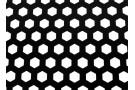 Сетка алюминиевая плоская, с шестигранной перфорацией. Черная. 120x40см.