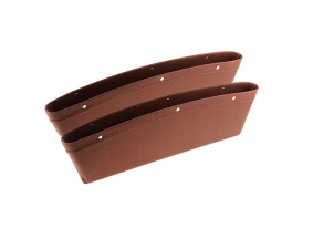 Premium кармашки для мелочей из кожи 2шт. (коричневые)