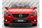 Светодиодные противотуманные фары с ангельскими глазками для Mazda 6GJ (2012-2015)