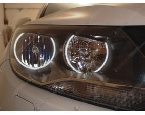 Ангельские глазки на Volkswagen Tiguan (в стандартные фары)