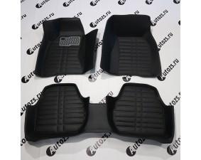 Кожаные 3D коврики Autozs Alfa для Audi A6 III (C6) Рестайлинг Седан (2008-2011)