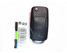 Выкидной ключ Volkswagen 3 кнопки #28