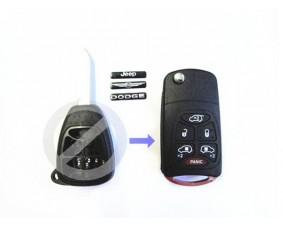 Выкидной ключ Chrysler 6 кнопки A #252