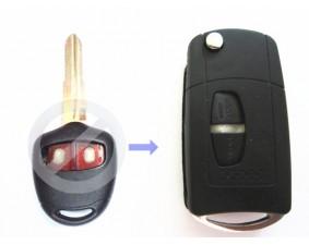 Выкидной ключ Mitsubishi Grandis 2 кнопки #184
