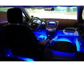 Синяя светодиодная лента для подсветки салона