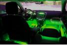 Зеленая светодиодная лента для подсветки салона