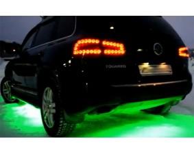Зеленая светодиодная лента для подсветки днища