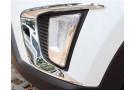 Хромированные накладки на передние ПТФ Hyundai Creta 2016+ B