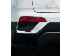 Хромированные накладки на задние ПТФ Hyundai Creta 2016+