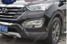 Хромированные накладки на передние ПТФ Hyundai Santa Fe 3 2012+