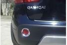 Хромированные накладки на задние ПТФ Nissan Qashqai J10 2007-2014