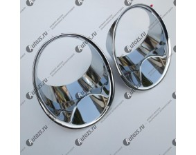 Хромированные накладки на передние ПТФ Subaru Forester SH 2008-2013 A