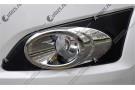 Хромированные накладки на передние ПТФ Chevrolet Aveo T300 2012+