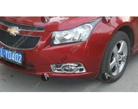 Хромированные накладки на передние ПТФ Chevrolet Cruze 1 2009-2012 B