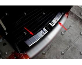 Хромированная накладка на задний борт багажника Mitsubishi Outlander 3 2012-2015 до рестайлинга