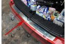 Хромированная накладка на задний бампер Ford Focus 2008-2011 седан