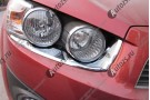 Хромированные накладки на фары Chevrolet Aveo T300 2011+ Седан