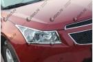 Хромированные накладки на фары Chevrolet Cruze 1 поколение рестайлинг 2012-2015 Седан