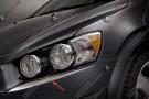 Хромированные накладки под фары Chevrolet Aveo T300 2012+