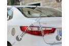 Хромированные накладки на задние фонари KIA Rio 3 2011-2015 седан