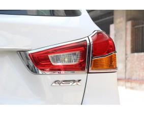 Хромированные накладки на задние фонари Mitsubishi ASX 2010+