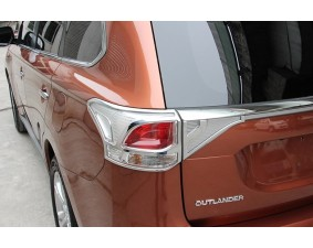 Хромированные накладки на задние фонари Mitsubishi Outlander 3 2012-2015
