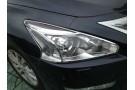 Хромированные накладки на фары Nissan Teana L33 2014+