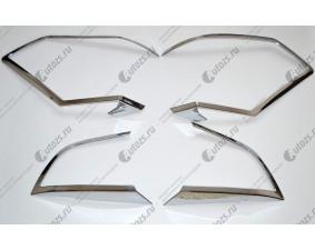 Хромированные накладки на задние фонари Nissan X-Trail T32 2015+
