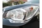 Хромированные накладки на фары Subaru Forester SJ 2013+ (реснички)