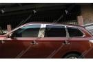 Хромированные молдинги окон Mitsubishi Outlander 3 2012+ (20 молдингов)