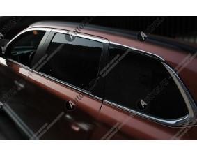 Хромированные молдинги окон Mitsubishi Outlander 3 2012+ (14 молдингов) A