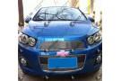 Хром решетка радиатора (бампера) Chevrolet Aveo T300 2012+