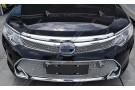 Накладка хром сетка на решетку радиатора Toyota Camry XV50 2014+