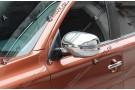 Хромированные накладки на зеркала заднего вида Mitsubishi Outlander 3 2012-2016 c повторителями поворотов