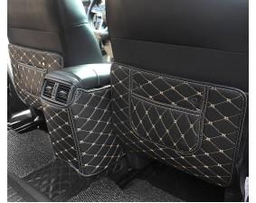 Кожаные защитные накидки на спинки передних сидений для Nissan X-Trail III (2013+)
