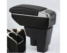 Подлокотник для Honda Fit, Jazz I 2004-2008 c USB красная строчка