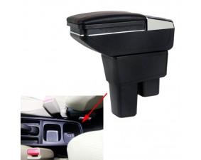 Подлокотник для Honda Fit/Jazz II 2008-2014 c USB красная строчка