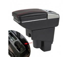 Подлокотник для Honda Fit, Jazz I 2004-2008 красная строчка