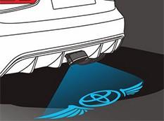 Подсветка на бампер с логотипом
