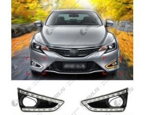 Дневные ходовые огни Toyota Mark X 2 2012-2015 с повторителями поворотов
