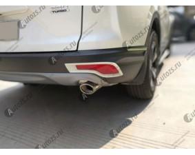 Хромированные накладки на задние ПТФ Honda CR-V 5 2016+