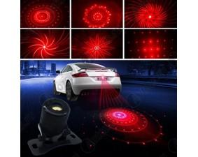 Лазерный стоп сигнал, противотуманный фонарь и ограничитель дистанции 6 узоров