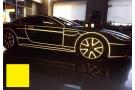 Светоотражающая лента 3D желтая - 5 метров