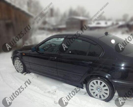 Дефлекторы боковых окон BMW 3er IV (E46) Рестайлинг Седан (2001-2006)Дефлекторы боковых окон<br>Дефлекторы боковых окон индивидуальны для каждого автомобиля. Продукция изготовлена с помощью точного компьютерного оборудования и новейших технологий. Дефлекторы окон блокируют сильный ветер, бурный поток во...<br>