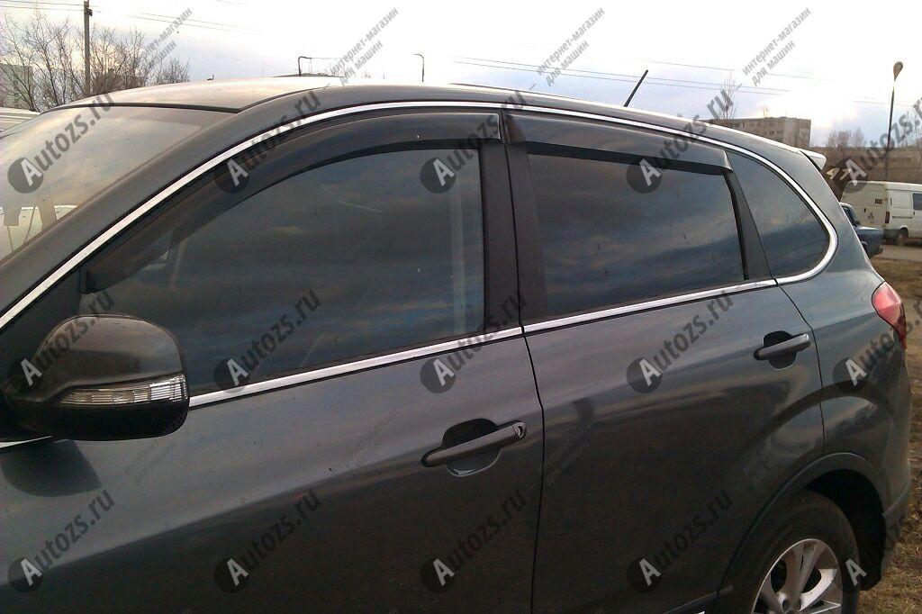 Дефлекторы боковых окон Chery Tiggo 5Дефлекторы боковых окон<br>Дефлекторы боковых окон индивидуальны для каждого автомобиля. Продукция изготовлена с помощью точного компьютерного оборудования и новейших технологий. Дефлекторы окон блокируют сильный ветер, бурный поток во...<br>
