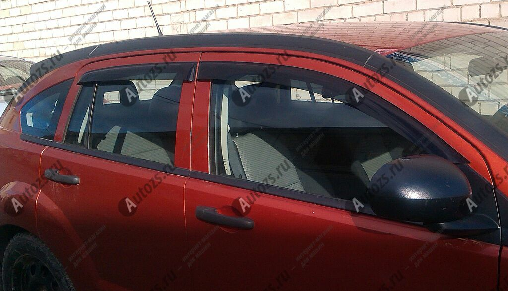 Дефлекторы боковых окон Dodge CaliberДефлекторы боковых окон<br>Дефлекторы боковых окон индивидуальны для каждого автомобиля. Продукция изготовлена с помощью точного компьютерного оборудования и новейших технологий. Дефлекторы окон блокируют сильный ветер, бурный поток во...<br>