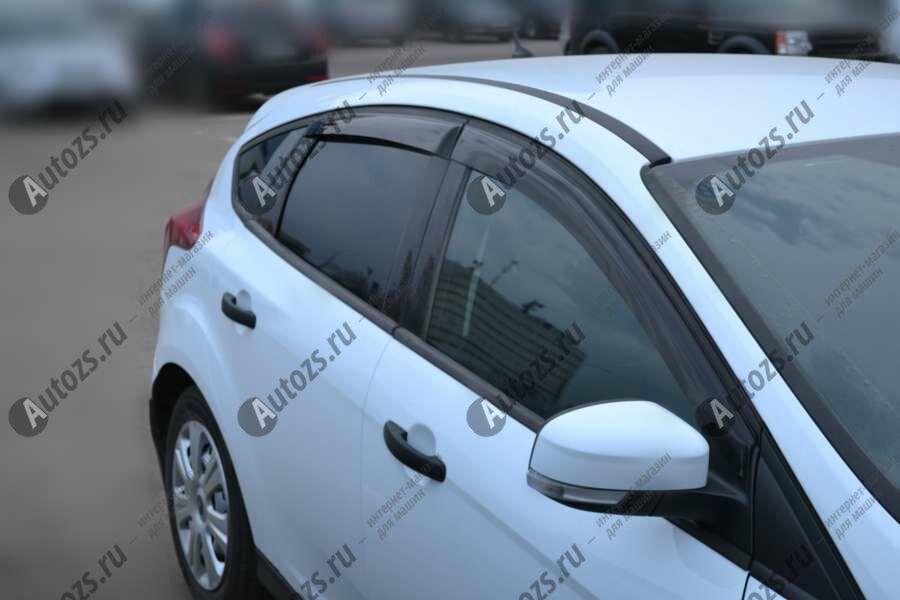 Дефлекторы боковых окон Ford Focus III Рестайлинг Седан (2014+)Дефлекторы боковых окон<br>Дефлекторы боковых окон индивидуальны для каждого автомобиля. Продукция изготовлена с помощью точного компьютерного оборудования и новейших технологий. Дефлекторы окон блокируют сильный ветер, бурный поток во...<br>