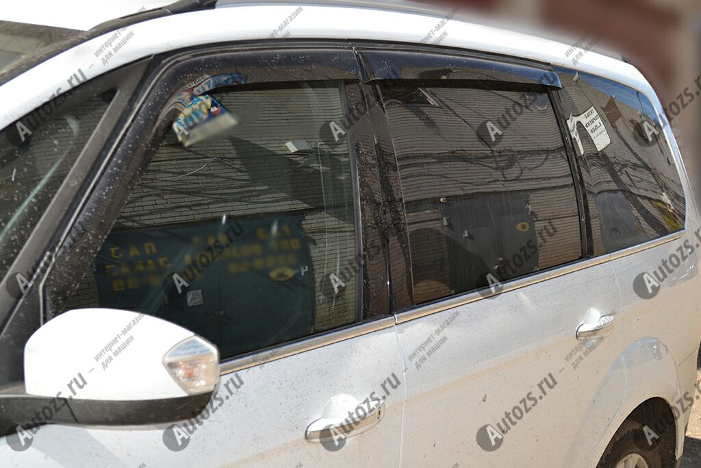 Дефлекторы боковых окон Ford Galaxy II Рестайлинг (2010-2015)Дефлекторы боковых окон<br>Дефлекторы боковых окон индивидуальны для каждого автомобиля. Продукция изготовлена с помощью точного компьютерного оборудования и новейших технологий. Дефлекторы окон блокируют сильный ветер, бурный поток во...<br>