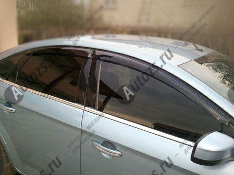 Дефлекторы боковых окон Ford Mondeo IV Лифтбек (2006-2010)Дефлекторы боковых окон<br>Дефлекторы боковых окон индивидуальны для каждого автомобиля. Продукция изготовлена с помощью точного компьютерного оборудования и новейших технологий. Дефлекторы окон блокируют сильный ветер, бурный поток во...<br>